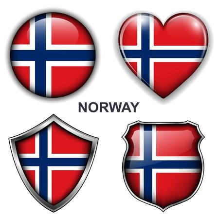 Noruega íconos, botones.