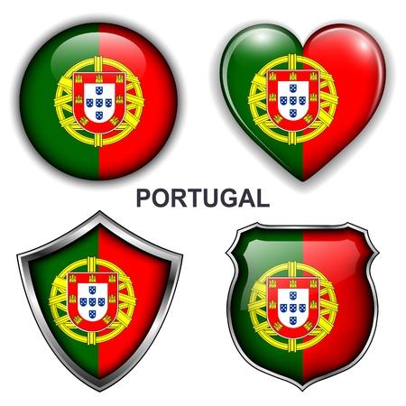 drapeau portugal: Portugal Flag icônes, boutons