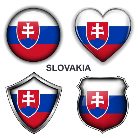 Slovakia flag icons,  buttons  Stock Vector - 20343973