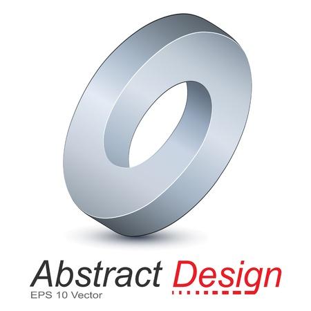 Logo ellipse, objet impossible Banque d'images - 20343819