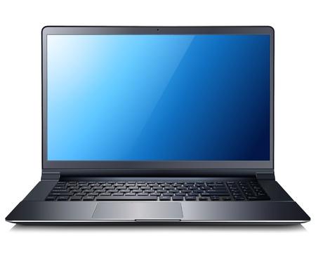 pc: Laptop computer  Illustration