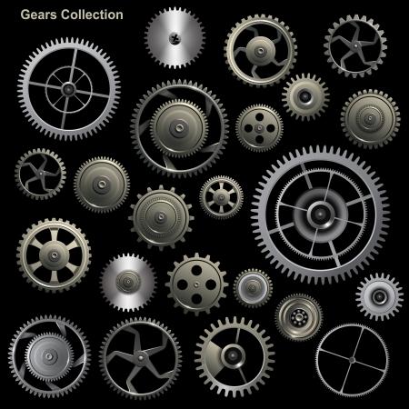 Colección del engranaje de recogida de la máquina de vector de rueda dentada y engranajes