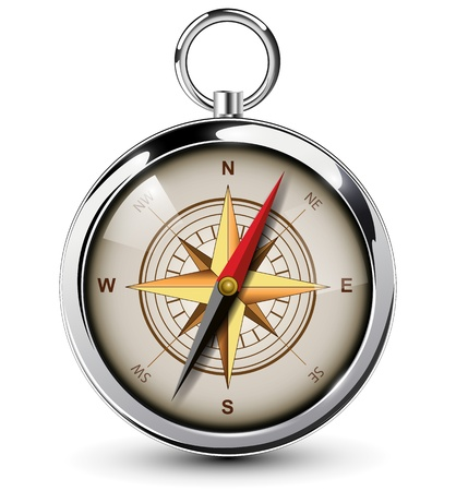 Compass with windrose.Illustration. Vector