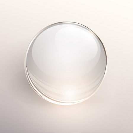 Empty glass ball on light background, .