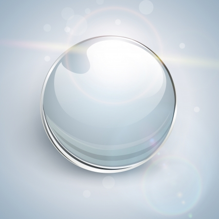 Shiny glass ball background. Stock Vector - 20950947