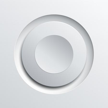 White circle plastic button background, illustration. Stock Vector - 20950952