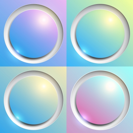 Abstract background with colorful plastic buttons, vector illustration. Stock Vector - 21169476