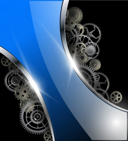 rackwheel: Abstract background glossy with gears, vector illustration. Illustration