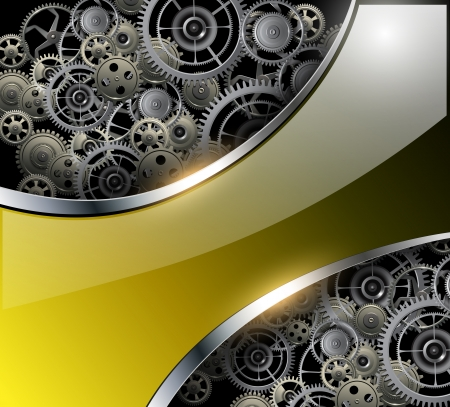 rackwheel: Abstract background with technology metal gears and cogwheels, vector.