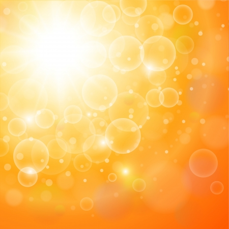 Abstract orange sunny background, vector illustration. Stock Vector - 21734571