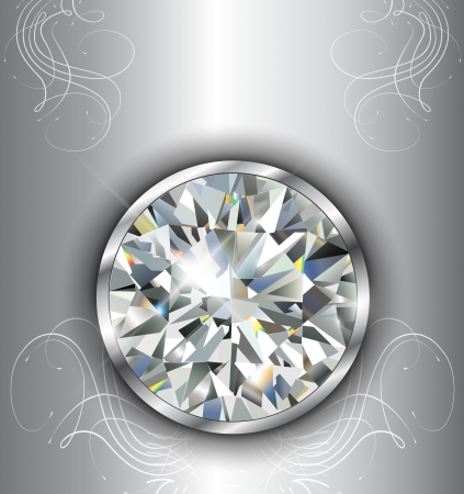 Luxury background with diamonds, vector. Vector