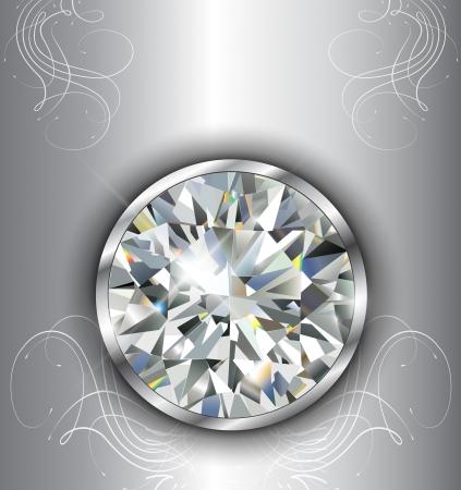 Luxury background with diamonds, vector. Stock Vector - 21734576