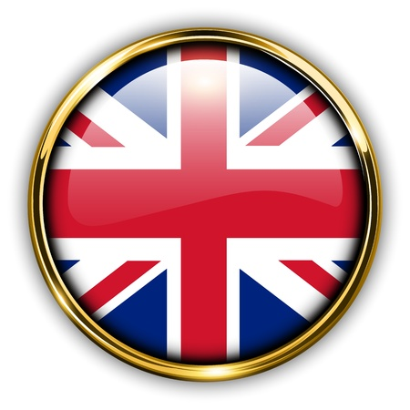 United Kingdom; UK flag button  Vector