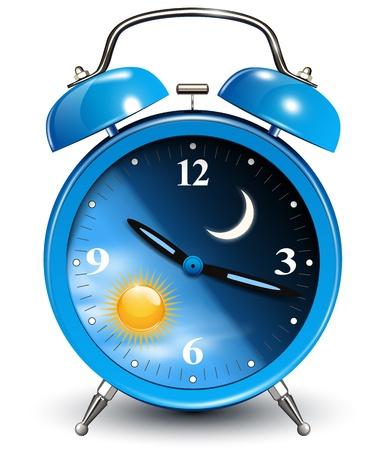dia y noche: Alarma, ilustraci�n vectorial.