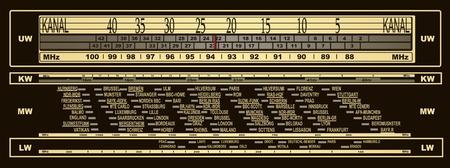 transistor: Ilustración dial de la radio del vintage