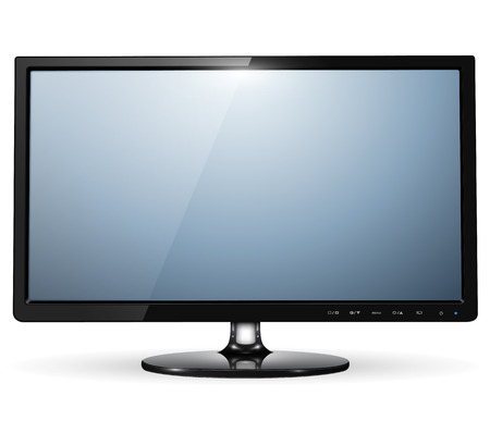 television screen: lcd tv monitor