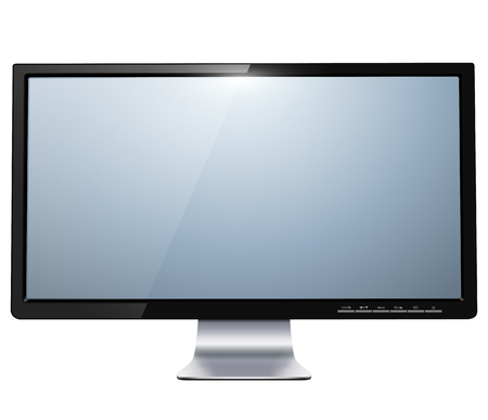 lcd tv monitor isolated Stock Vector - 22285022