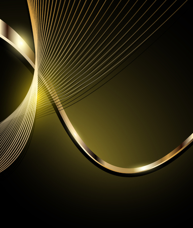 rich black wallpaper: Elegant abstract background brown and gold. Illustration