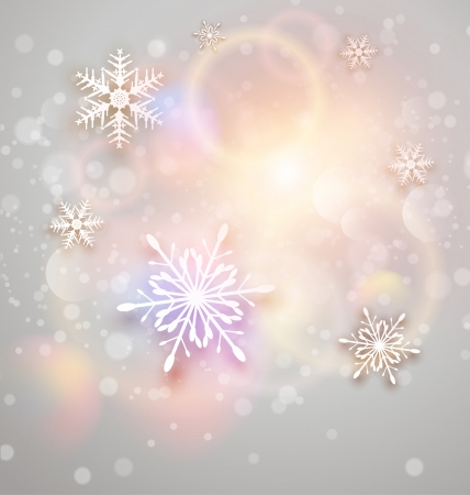 Abstract Christmas background with white snowflakes,  illustration Stock Vector - 22765163