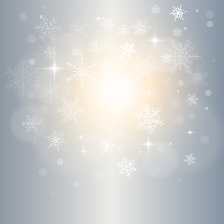 Abstract Christmas background with white snowflakes. Stock Vector - 22765173