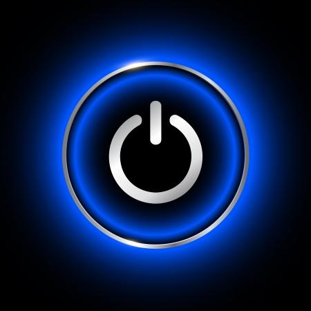 Power button design. Stock Vector - 22765217