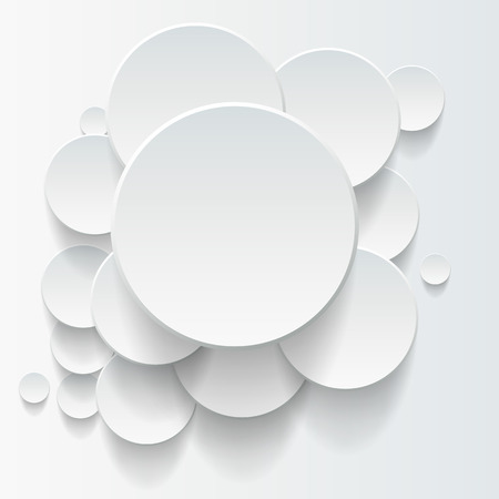 overlapping: Vector abstract background, 3D overlapping circles, vector design.