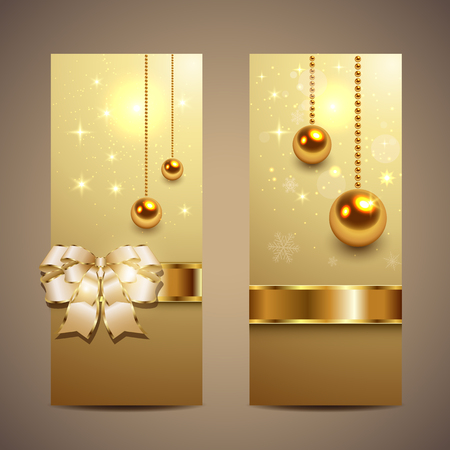 Elegant Christmas banners, vector. Vector