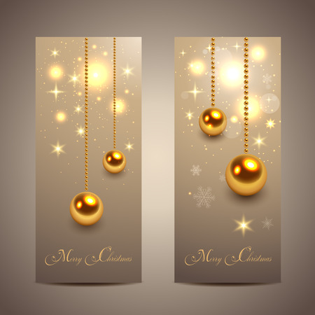 Elegant Christmas banners, vector. Stock Vector - 23103218