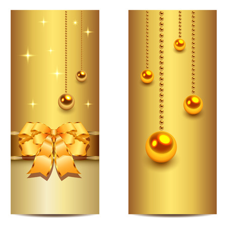 Elegant Christmas banners, vector. Stock Vector - 23103217