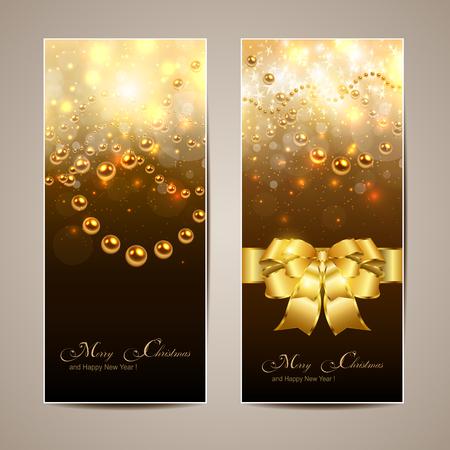 Elegant Christmas banners, vector. Stock Vector - 23312865