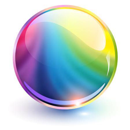 3 D 球体虹色、ベクトル イラスト