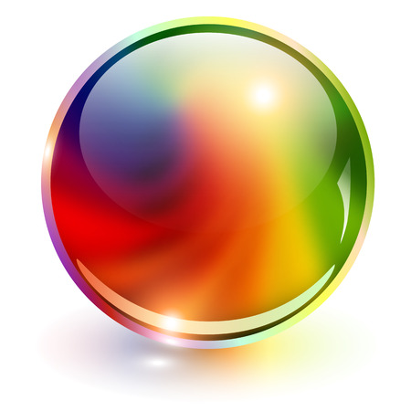 esfera: Colores del arco iris esfera 3D, ilustración vectorial