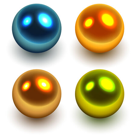 Pearls  colorful balls, vector illustration Vector