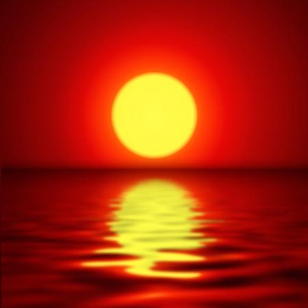 peaceful background: Sunset background, vector illustration  Illustration