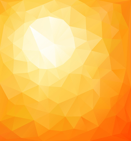 rise and shine: Abstract orange sunny background, vector triangle mosaic design  Illustration