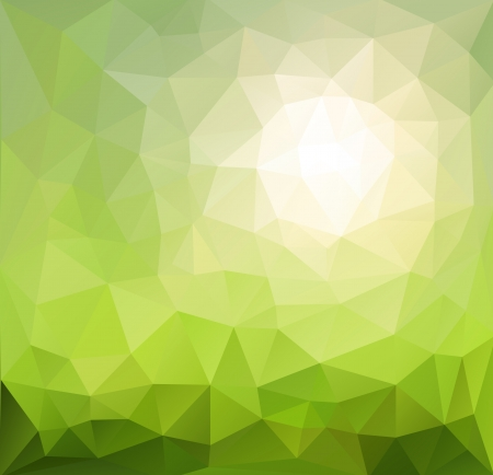 triangle pattern: Abstract background green, sunny vector design