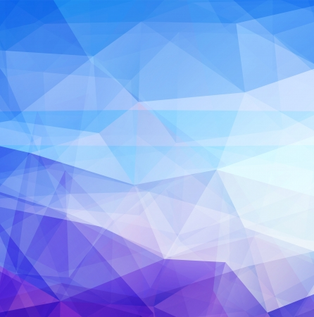 Abstract background blue triangle texture design - vector illustration  Illustration