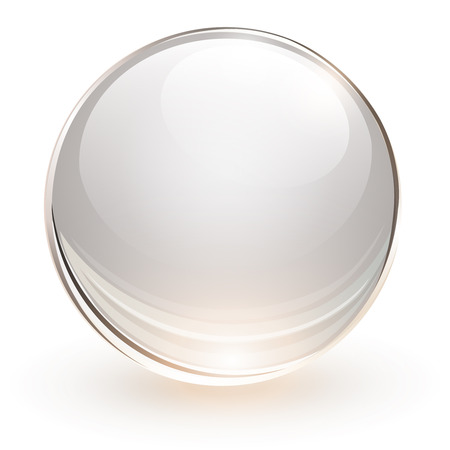 3D glass sphere, vector illustration  矢量图像