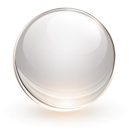 Sfera di vetro 3D, illustrazione vettoriale Vettoriali