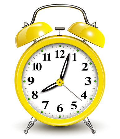 Alarm clock, vector illustration  Ilustração