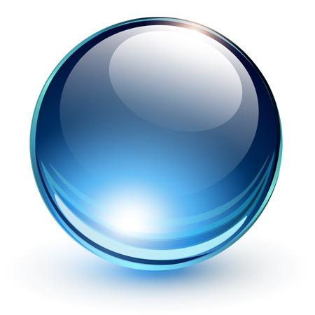 3D glass sphere, vector illustration  Illustration