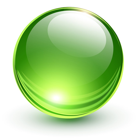 3D glass sphere, vector illustration  Çizim