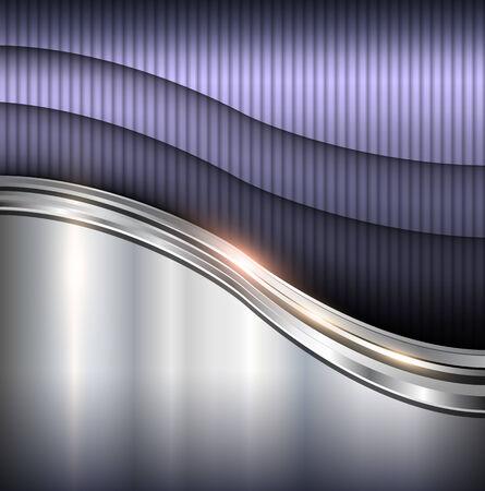 Abstrakt metallischen Hintergrund Wellen, Vektor-Illustration