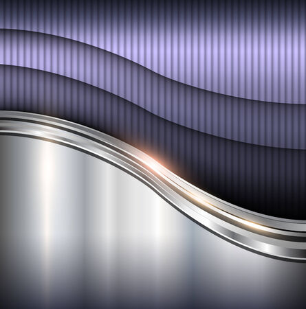 Résumé des vagues métalliques de fond, illustration vectorielle