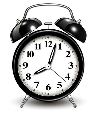 awaken: Alarm clock, vector illustration.
