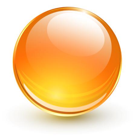esfera de cristal: Esfera de cristal en 3D, ilustraci�n vectorial. Vectores