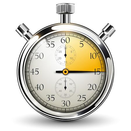 15 seconden stopwatch. Stock Illustratie