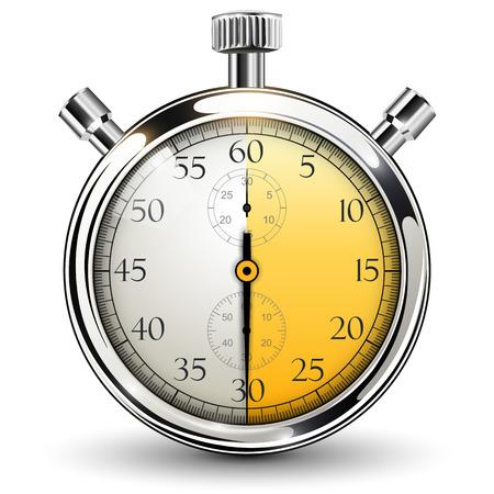 30 seconden stopwatch. Stock Illustratie