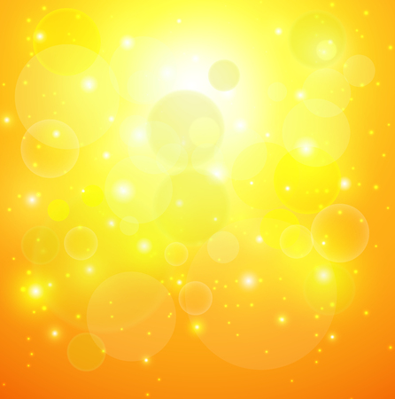 Abstract orange sunny background, vector illustration. Stock Vector - 25042327