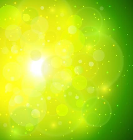 Natural green, sunny background, vector illustration. Stock Vector - 25253357
